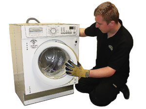 About Us - Engineer repairing washine machine